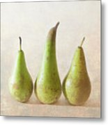 Three Pears Metal Print by Peter Chadwick LRPS