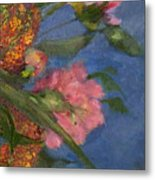 Three Peonies Metal Print