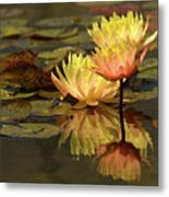 Three Perfect Lilies Metal Print