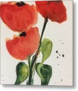 Three Poppies Metal Print