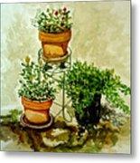Three Potted Plants Metal Print