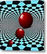 Three Red Balls Metal Print