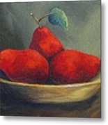 Three Red Pears  Metal Print