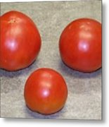 Three Red Tomatoes Metal Print