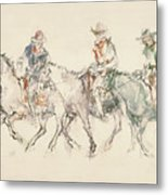 Three Riders Metal Print