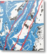 Three Roads And Four Islands Metal Print