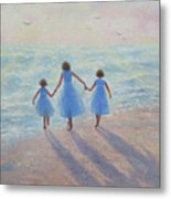 Three Sisters Beach Metal Print