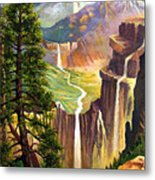 Three Sisters Falls Metal Print