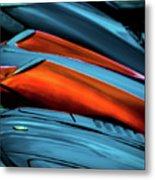 Three Sport Car Hoods Abstract Metal Print