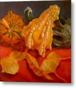 Three Squash Metal Print