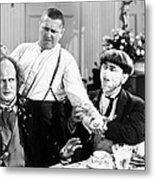 Three Stooges: Film Still Metal Print by Granger