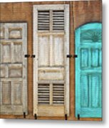 Three Taos Doors Metal Print
