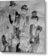 Three Tenors And A Pianist Metal Print