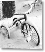 Three Wheels Metal Print