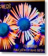 Three Wild Flowers Friendship Metal Print