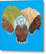 Three Women Metal Print