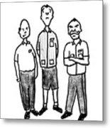 Three Workers Metal Print
