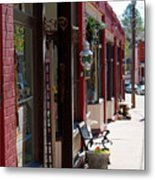 Thrift Shop And Sign In Manitou Springs Metal Print