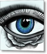 Through My Eye Metal Print