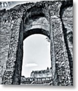 Through The Arch In A Sicily Ruin Metal Print
