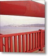 Through The Bridge View Of San Francisco Metal Print