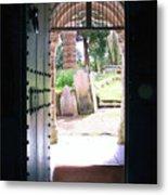 Through The Door Of St Mylor Metal Print