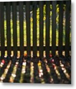 Through The Fence Metal Print