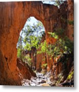 Through The Golden Arch Metal Print