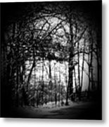 Through The Lens- Black And White Metal Print