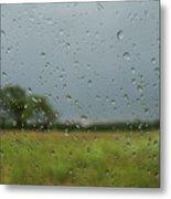 Through The Raindrops Metal Print