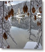 Through The Snow Trees Metal Print
