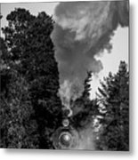 Through The Steam Metal Print