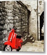 Through The Streets Of Italy - 01 Metal Print
