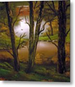 Through The Trees. Metal Print by Cynthia Adams