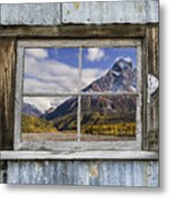 Through The Window Of The Past Metal Print