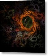 Through The Worm Hole Metal Print