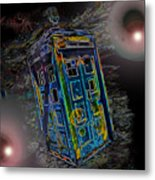 Tardis - Through Time And Space Metal Print