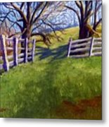 Throught The Pasture Gate Metal Print