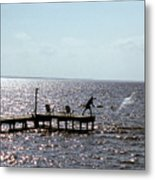 Throwing The Net Metal Print