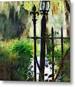 Thru The Gate Metal Print