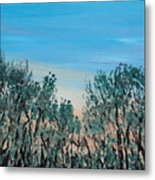 Thru The Woods Metal Print