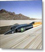 Thrust S S C - Mach 1 Metal Print