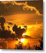 Thunder Mets Sunset Metal Print