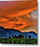Thunder Storm In The Valley Metal Print