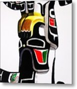 Thunderbird And Whale Totem Metal Print