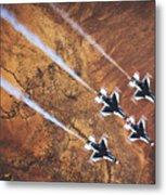 Thunderbirds In Diamond Roll Formation Metal Print
