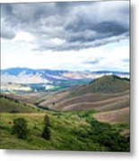 Thunderclouds Over The Hills Metal Print