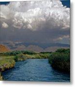 2a6738-thunderhead Over Owens River  Metal Print