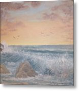 Thundering Sea Metal Print