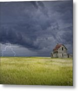 Thunderstorm On The Prairie Metal Print